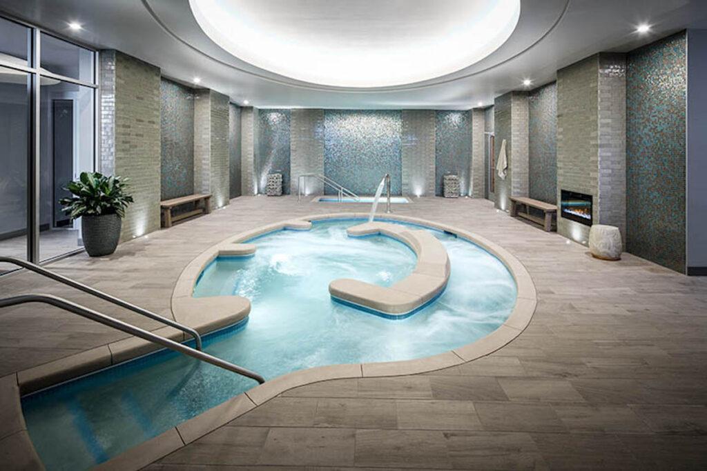 A spa pool.