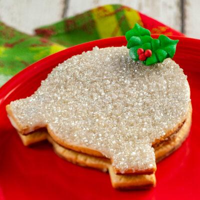 A Spaceship Earth Cookie with Salted Caramel Ganache from Walt Disney World Resort.