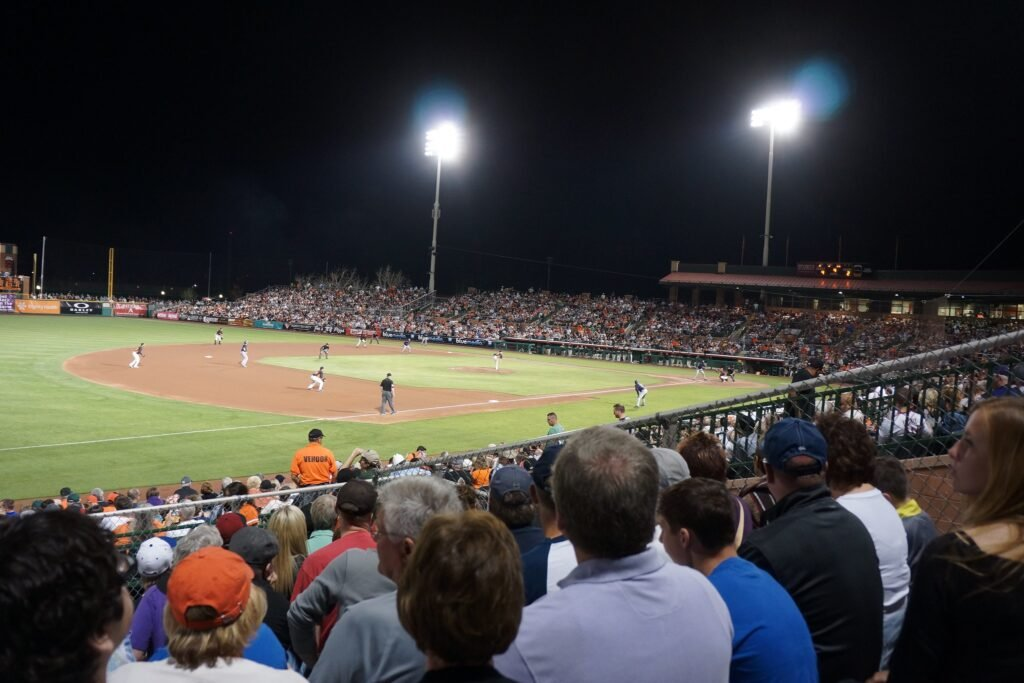 A spring training game in Arizona.