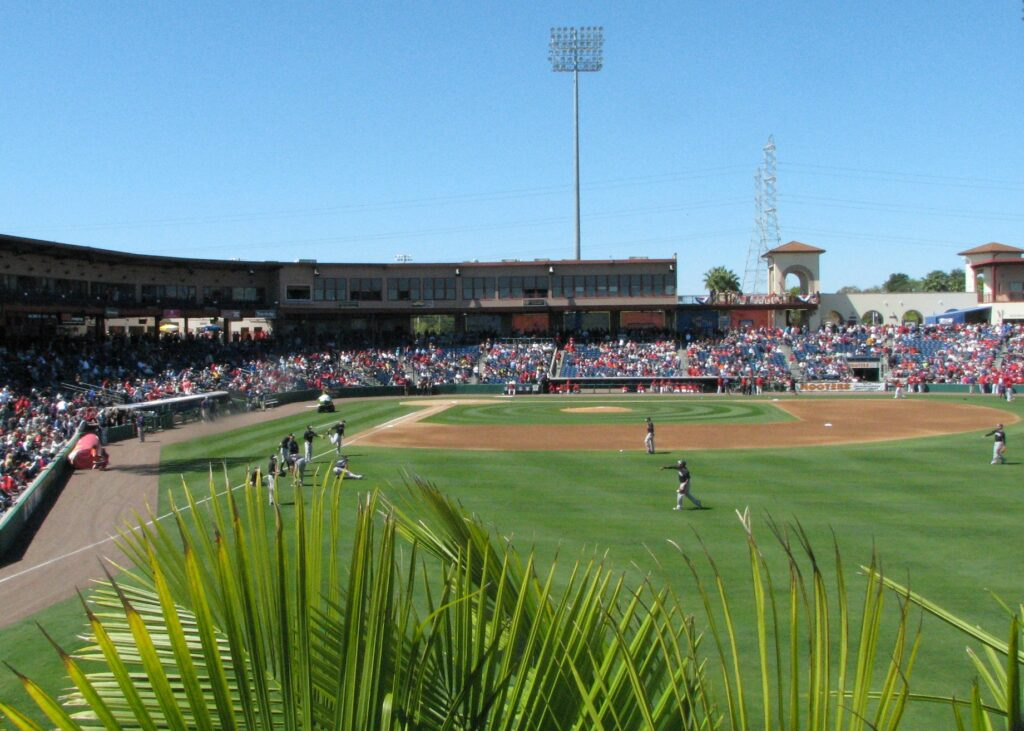 A spring training game in Florida.