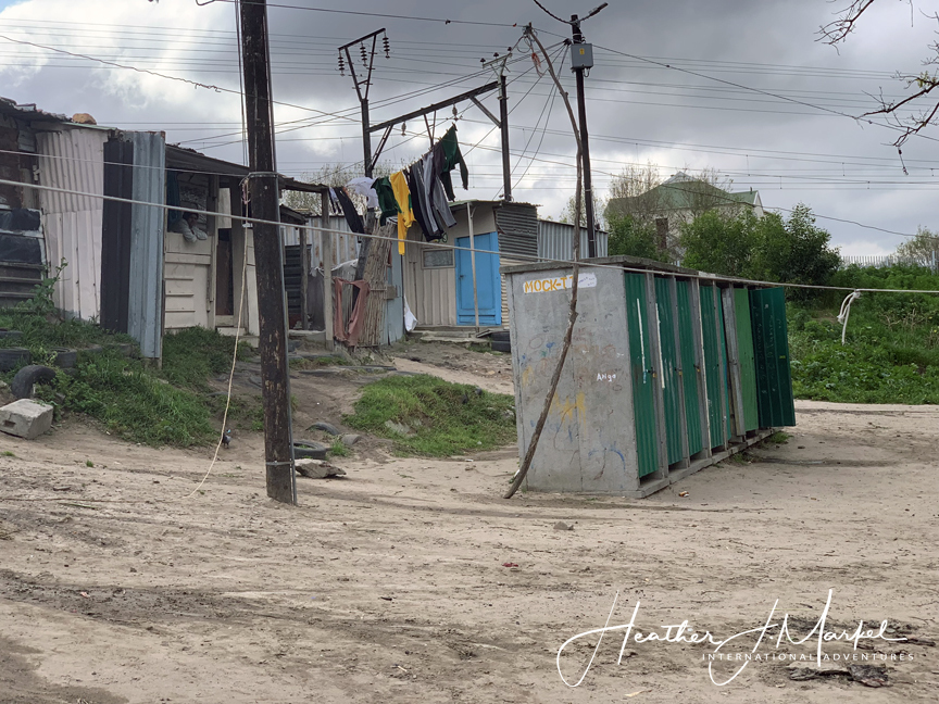 A squatter camp in South Africa.
