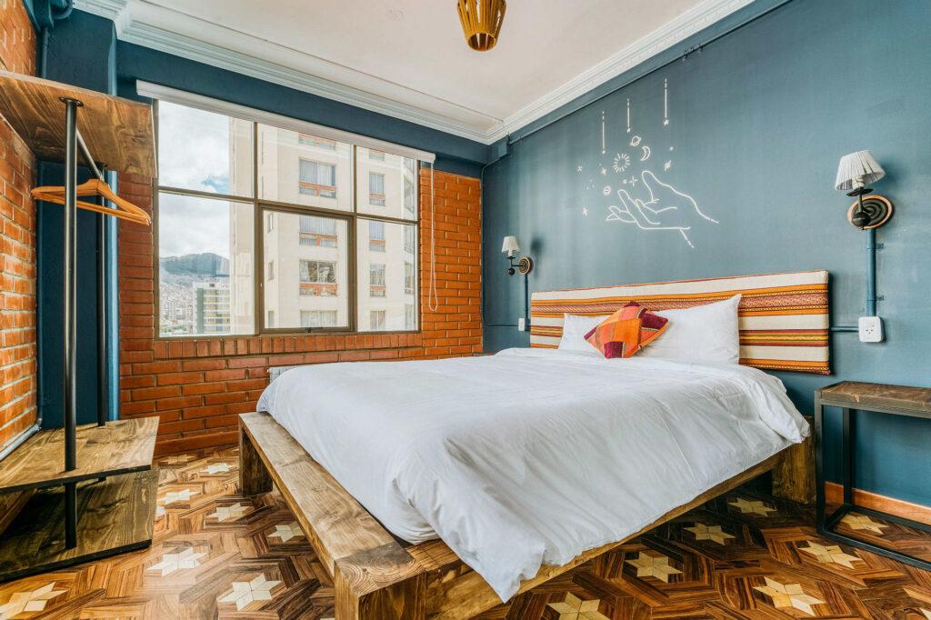 A standard 2-person room at Selina La Paz.
