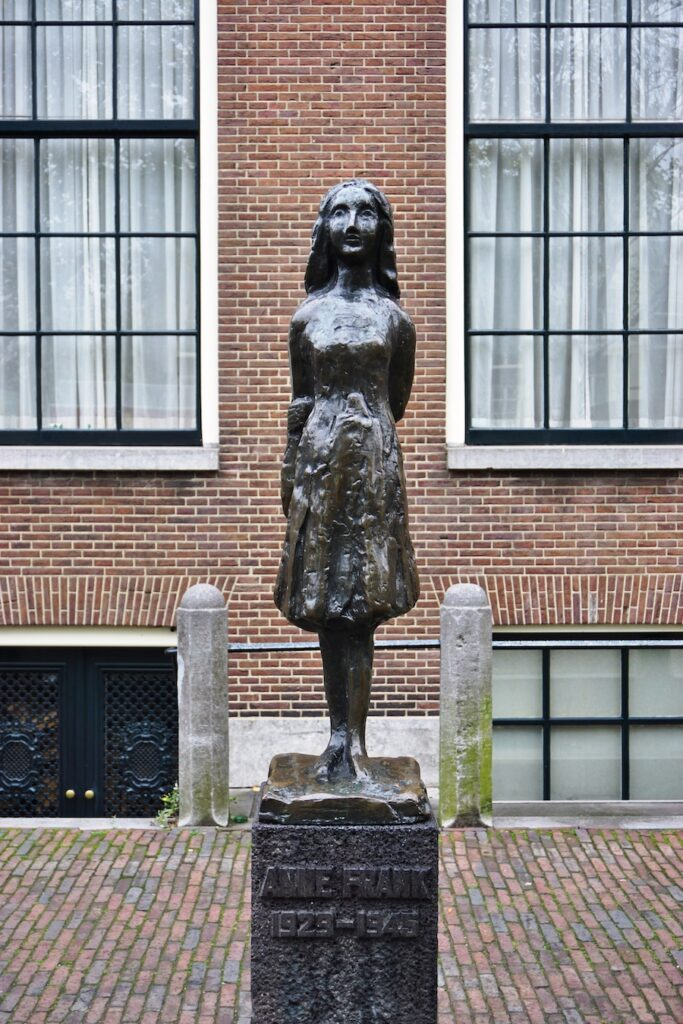 A statue at the Anne Frank House.