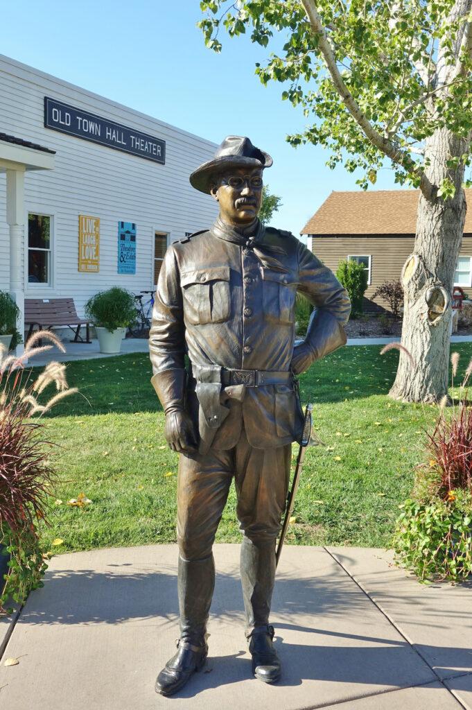A statue of Roosevelt in Medora, ND.