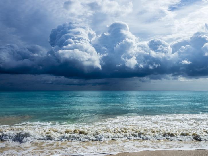 A storm blowing into Oahu's Waimanalo Bay.