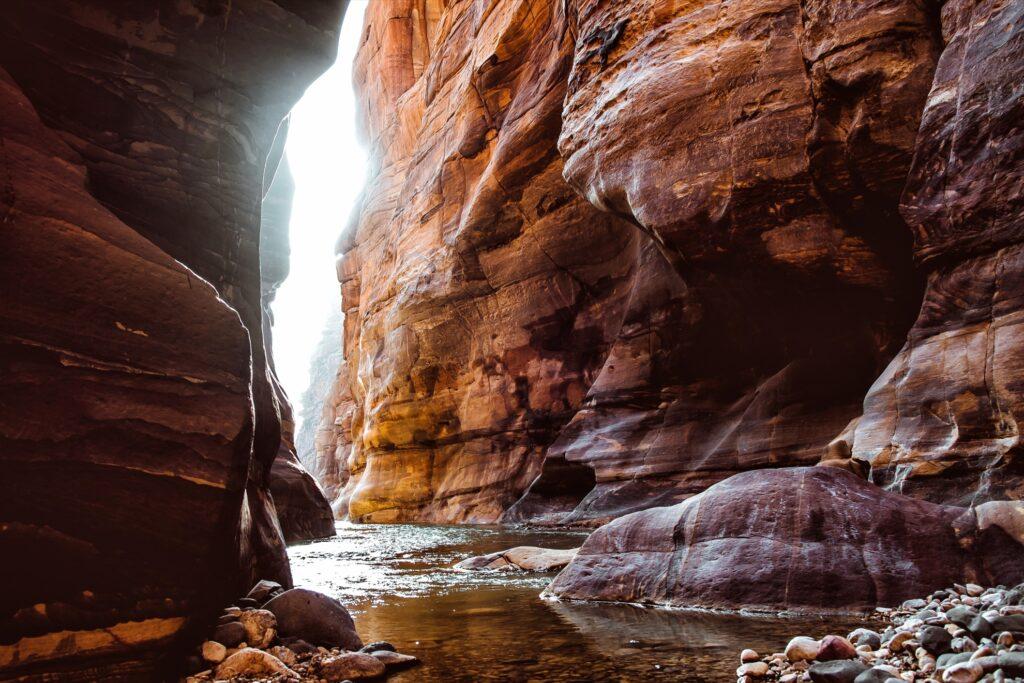 A stream of water near Petra, Jordan.