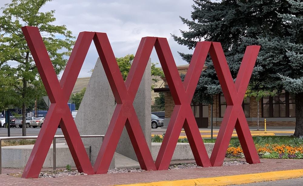 A street art installation in Missoula, Montana.