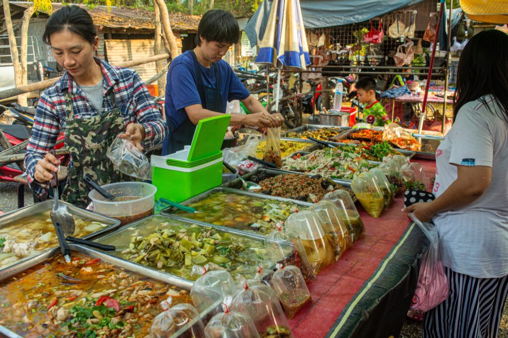 A street food stall in Ayutthaya.