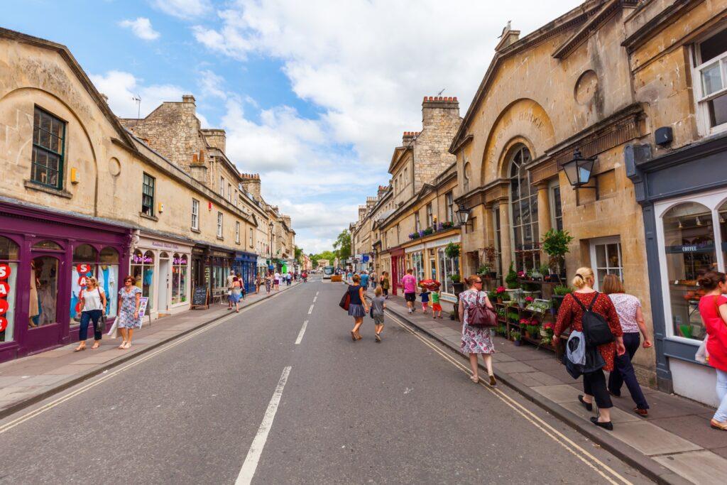 A street in Bath, England.