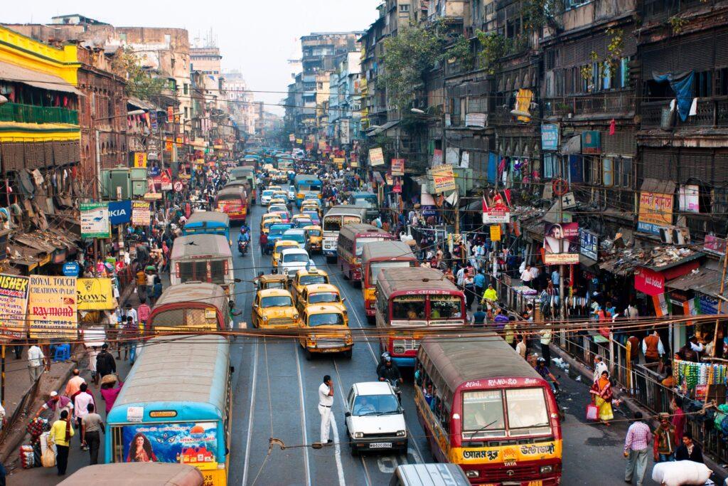 A street in Calcutta, India.