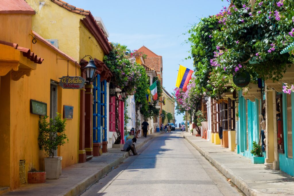A street in Cartagena, Colombia.