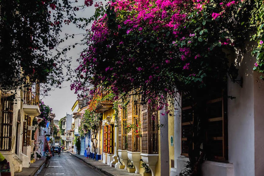 A street in Cartagena's Old Town.