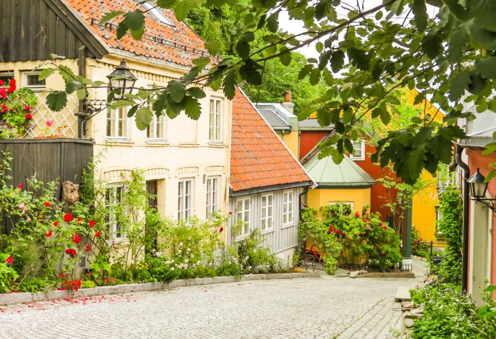 A street in Damstredet in Oslo.