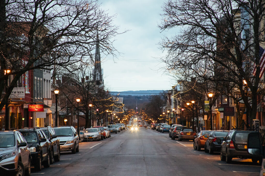 A street in downtown Hudson.