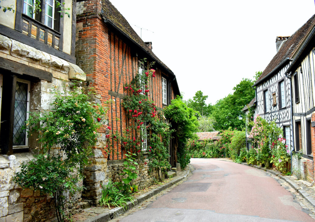 A street in Gerberoy, France.