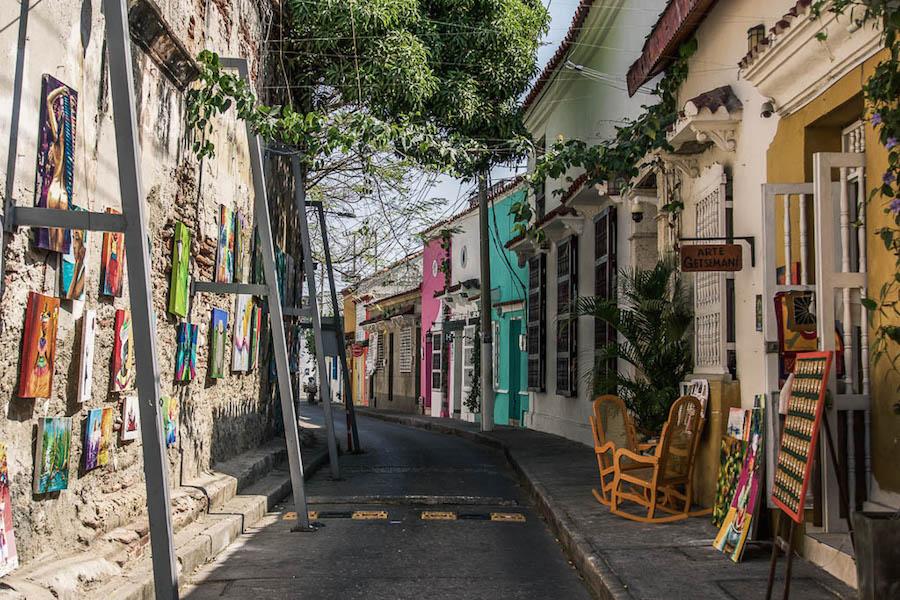 A street in Getsemani, Colombia.