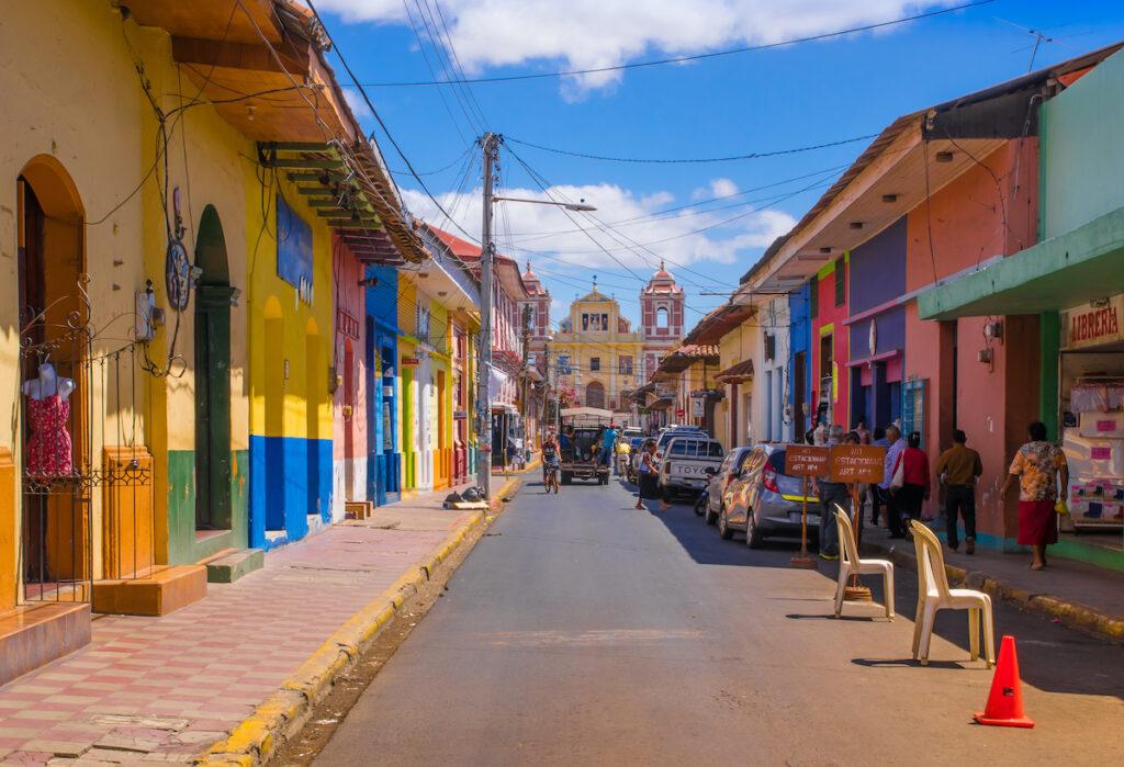 A street in Leon, Nicaragua.