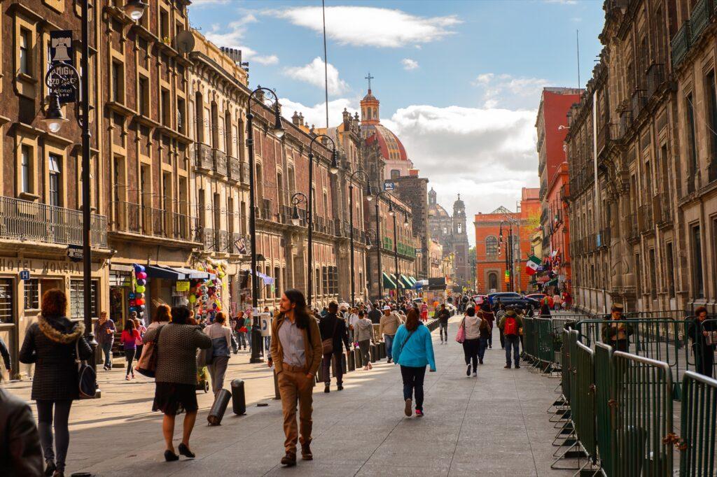 A street in Mexico City, Mexico.
