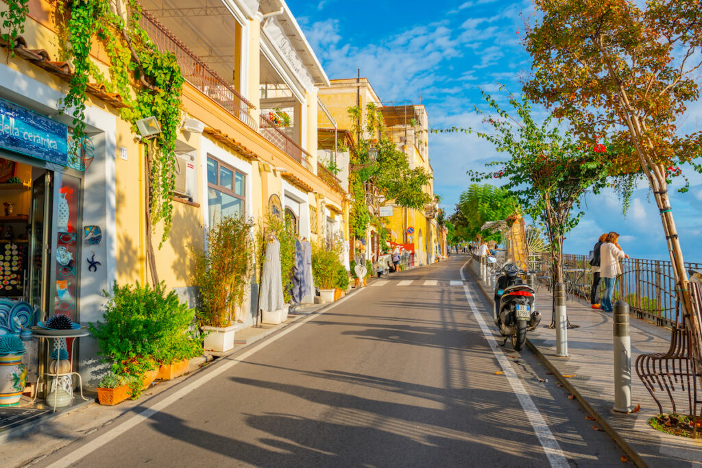 A street in Positano, Italy.