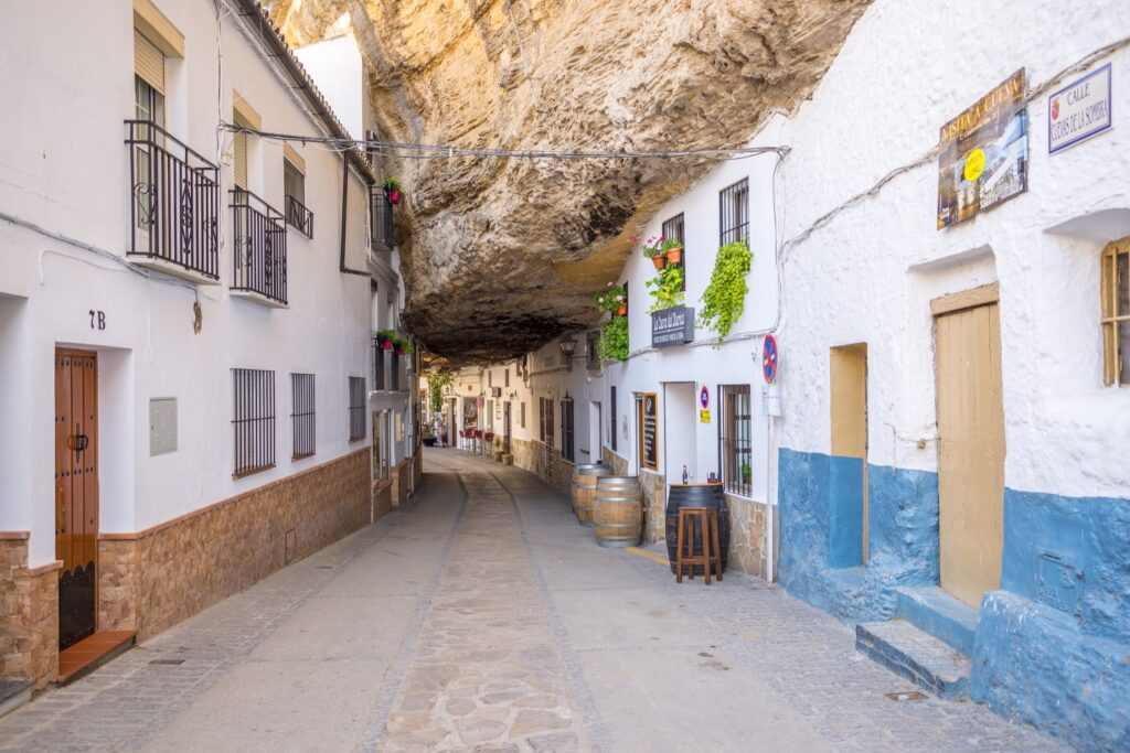 A street in Setenil De Las Bodegas.