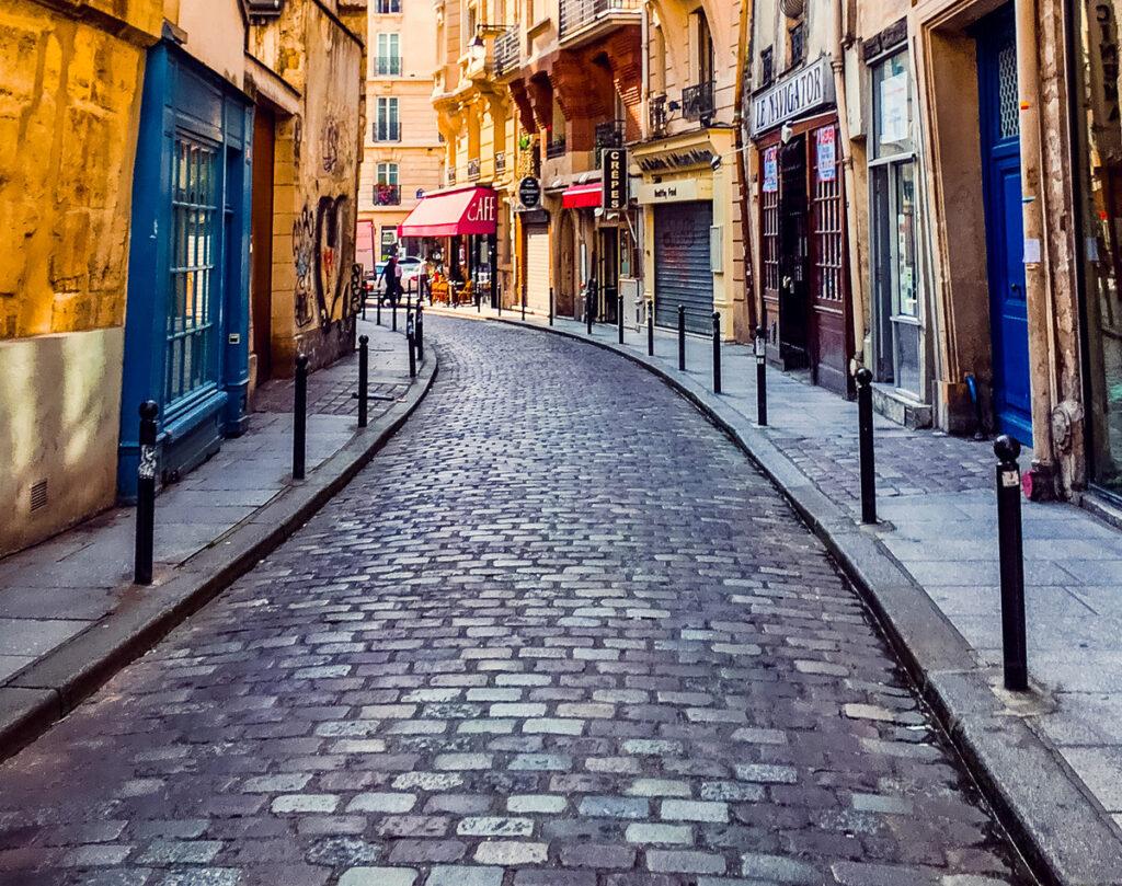 A street in the Latin Quarter of Paris.