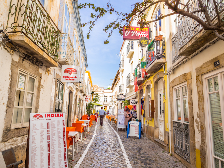 A street in the town of Tavira, Portugal.