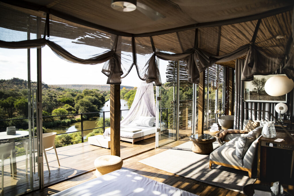 A suite at Lebombo Lodge.