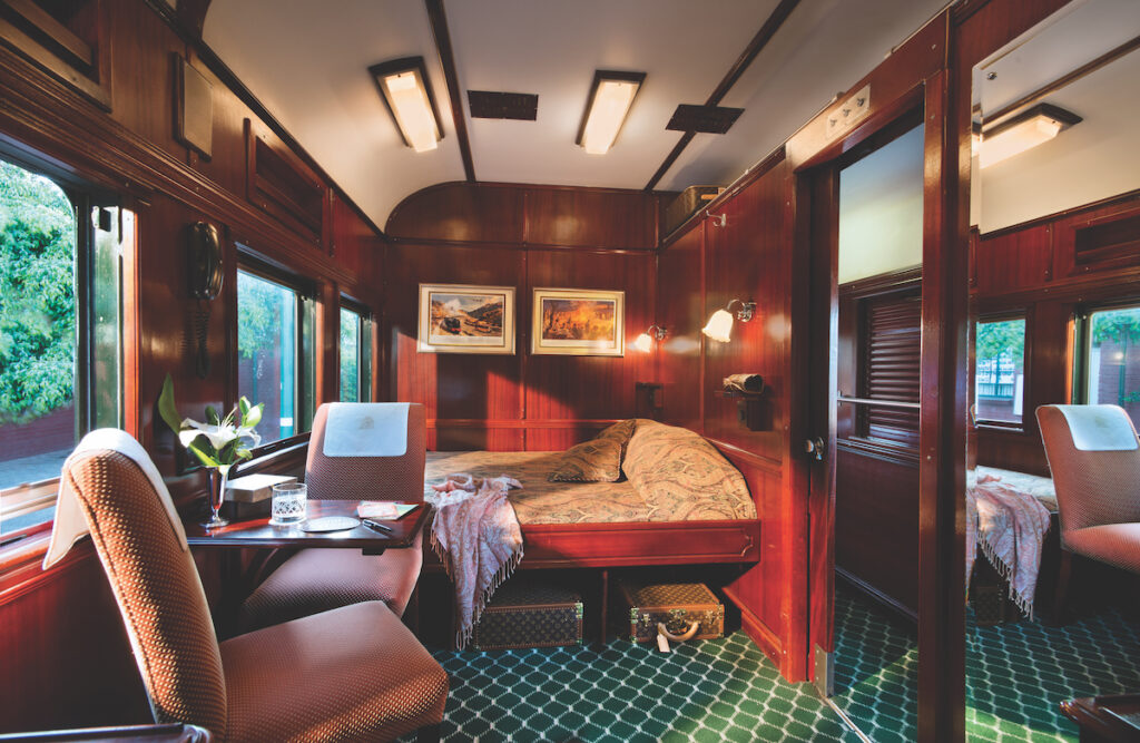 A suite on the Rovos Rail train.