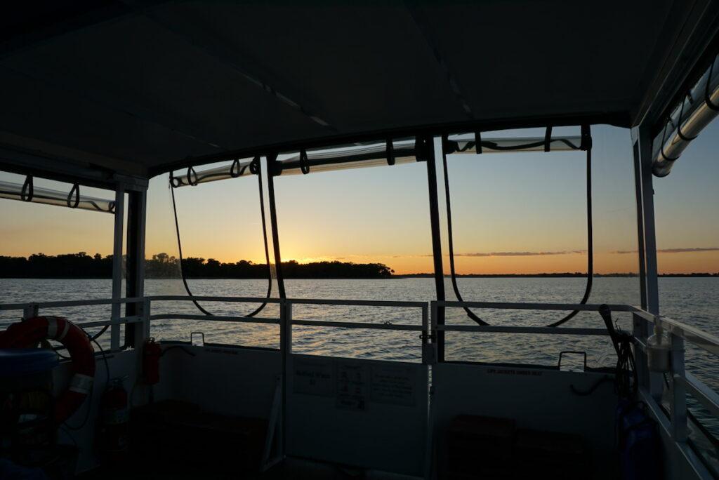 A sunset cruise on Lake Dora in Florida.