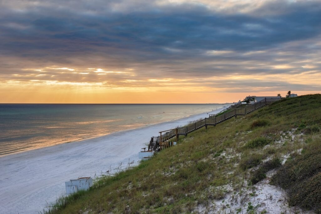 A sunset near Rosemary Beach off of Highway 30A.