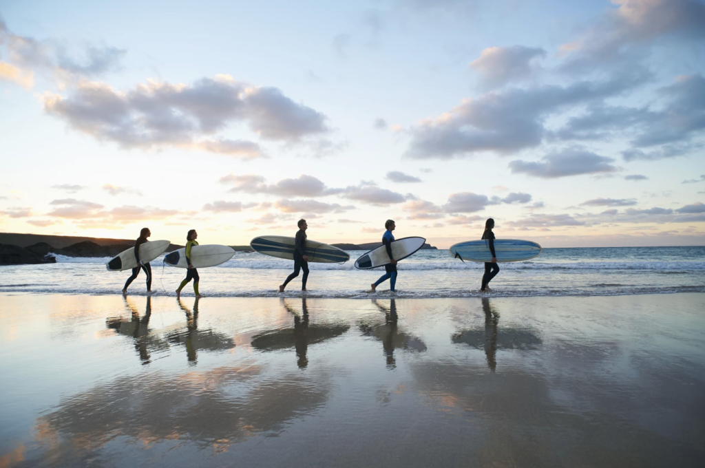A surfing lesson via All-A-Board Surf.