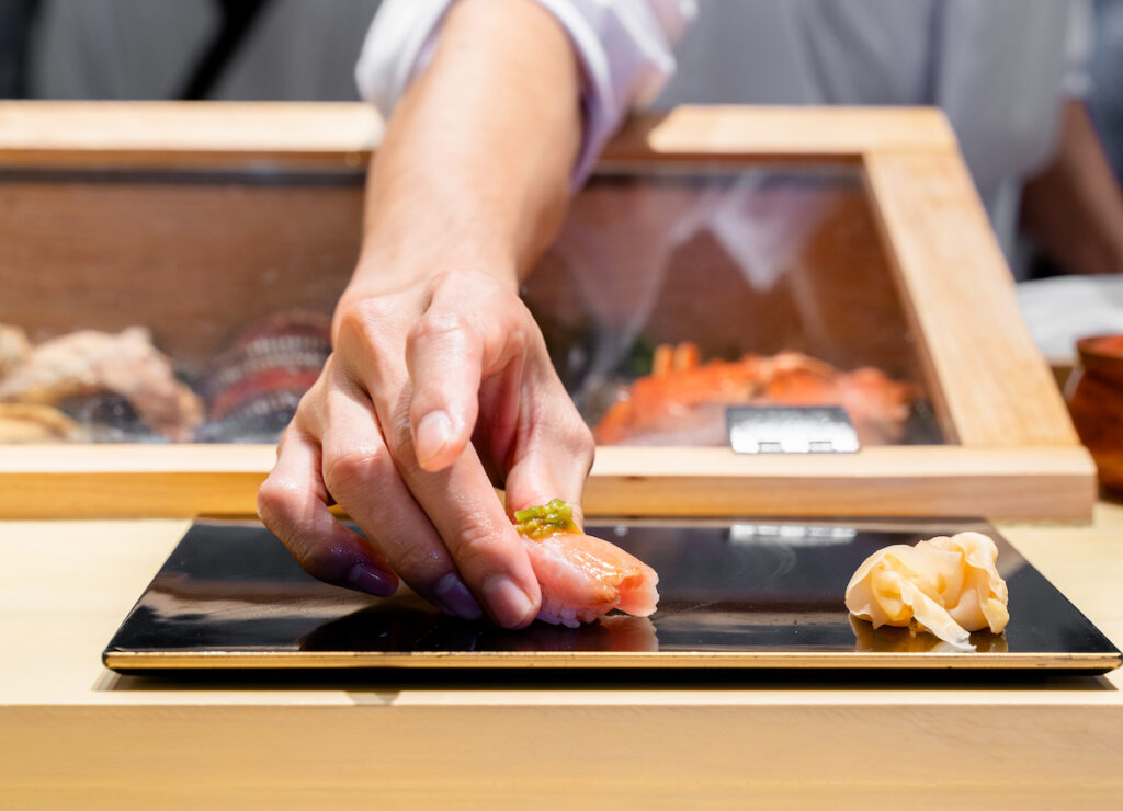 A sushi chef in Japan.