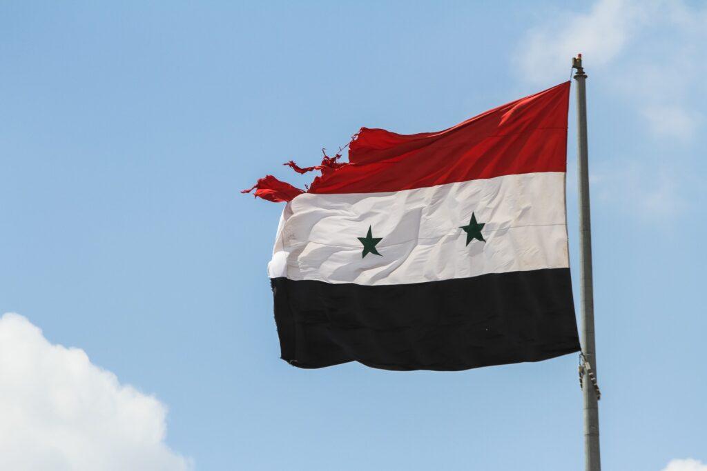 A Syrian flag.