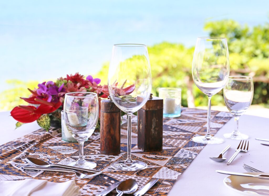 A table set for lunch in Mexico.