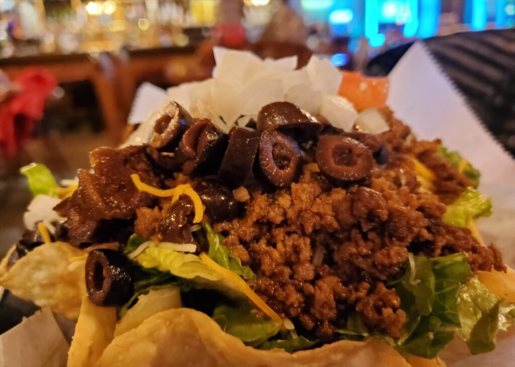 A taco salad from Little Missouri Dining Room and Saloon.