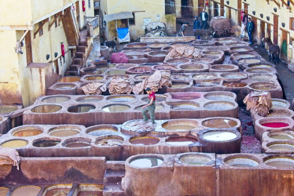 A tannery in Fes, Morocco.