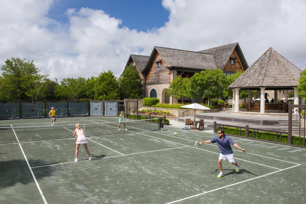 A tennis court at Kiawah Island Resort in South Carolina.