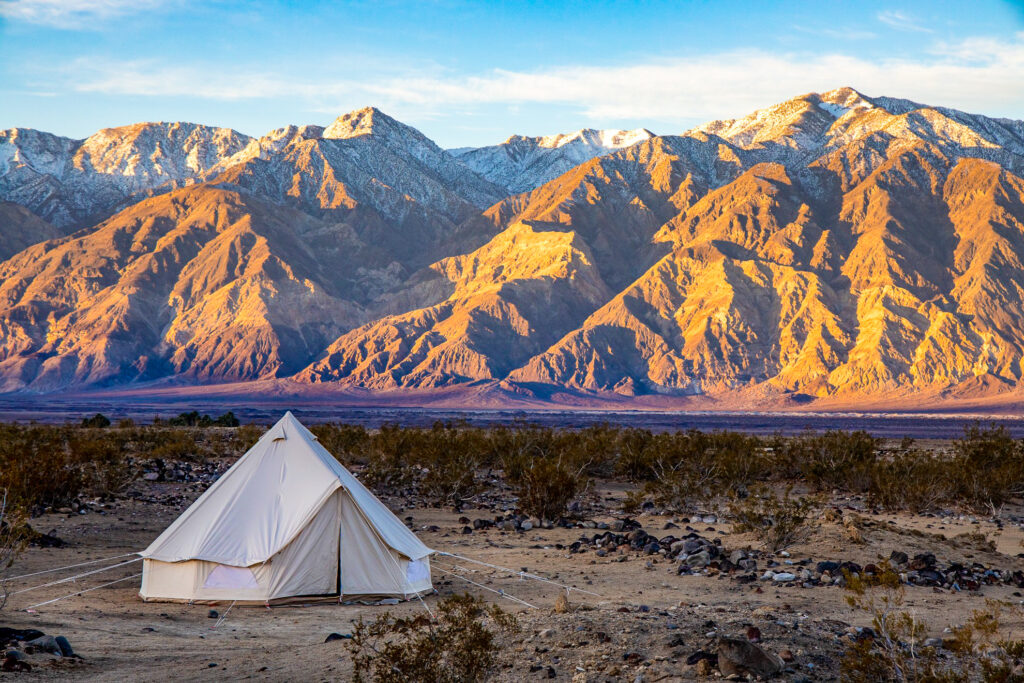 A tent in Death Valley National Park