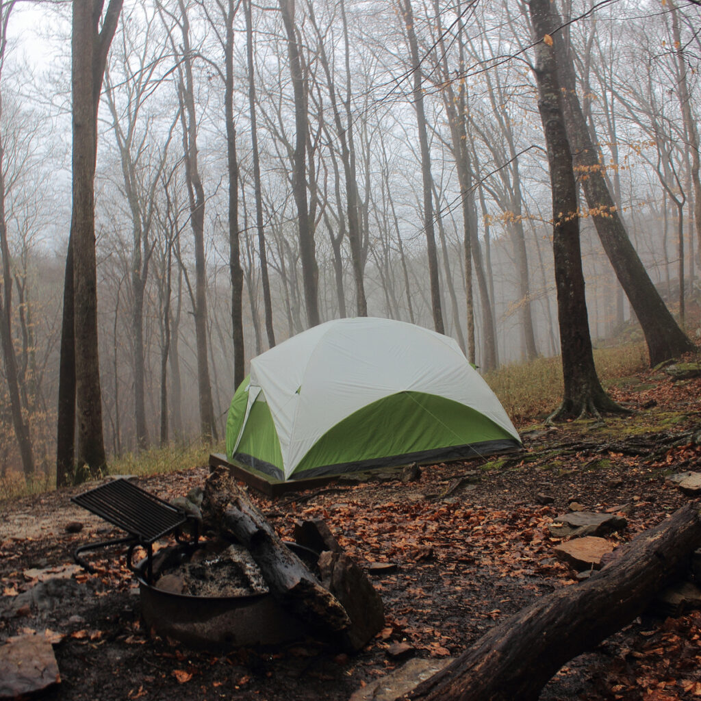 A tent in Mammoth Cave National Park.