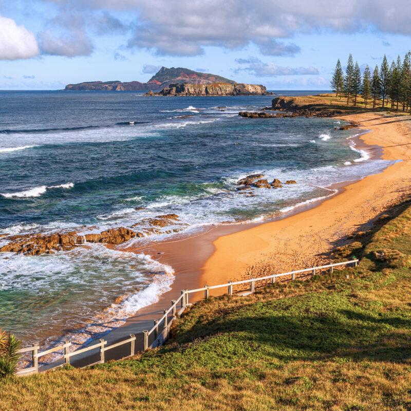 A Thanksgiving dinner on Norfolk Island in Australia.