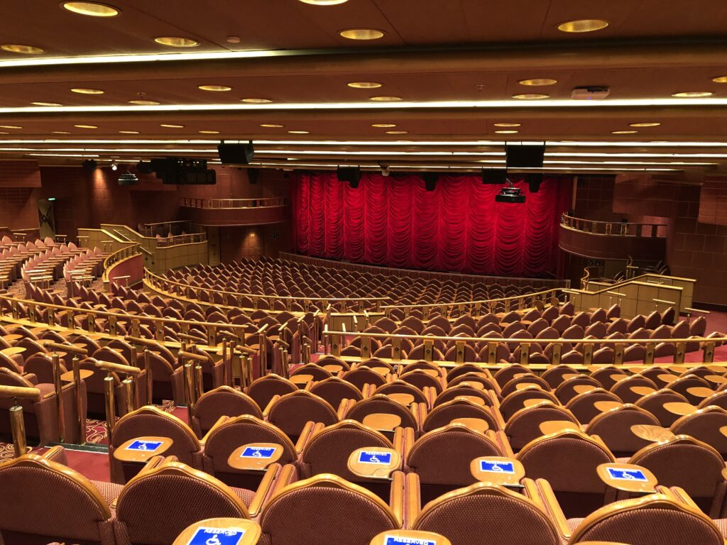 A theater on a cruise ship.