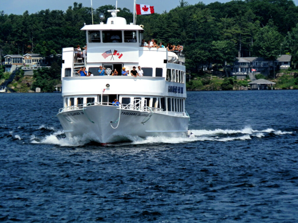A tour boat in the Thousand Islands.