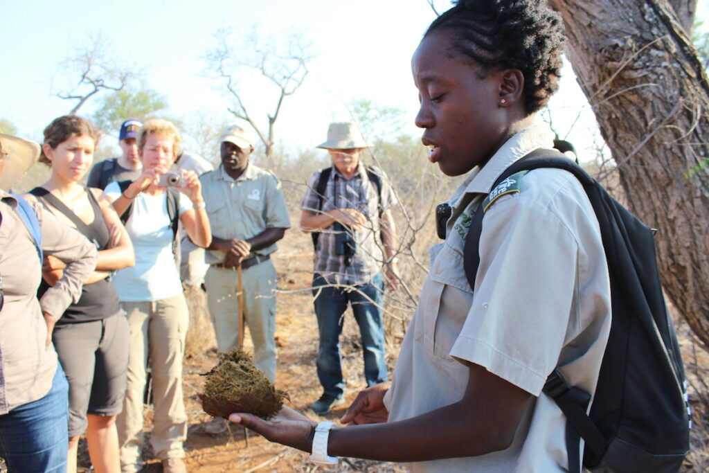 A tour guide in Kruger National Park.