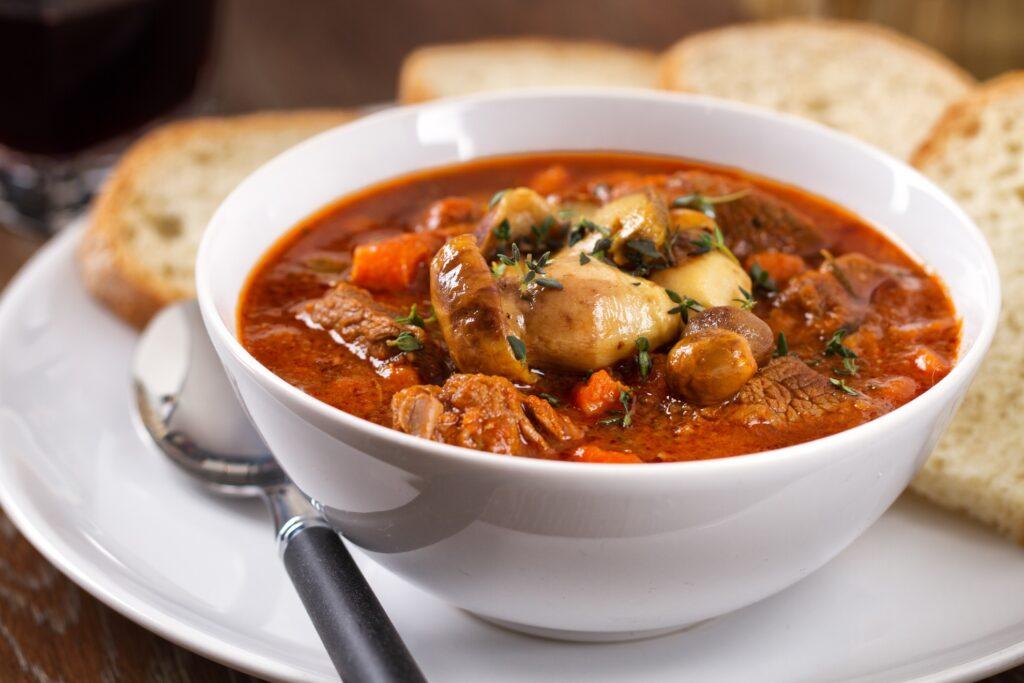 A traditional Irish stew.