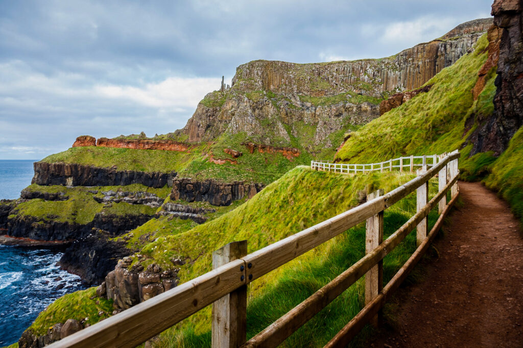 A trail along Giant's Causeway in Northern Ireland