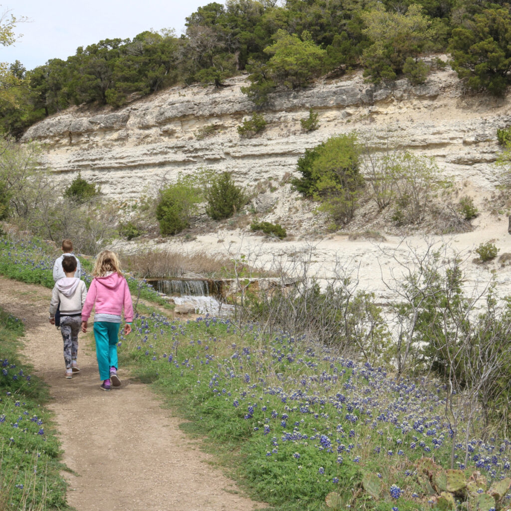 A trail at Cleburne State Park in Texas.