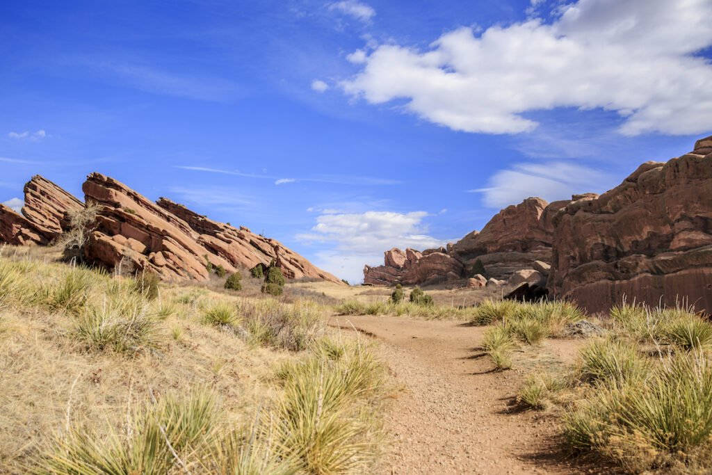A trail at Red Rocks Amphitheatre.