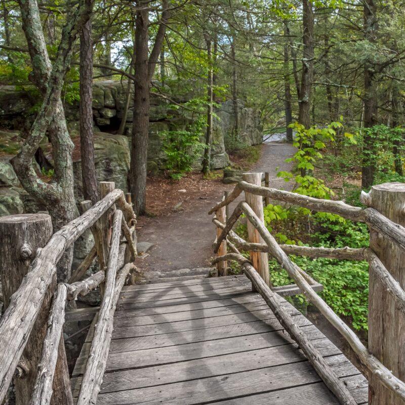 A trail in New York's Minnewaska State Park Preserve.