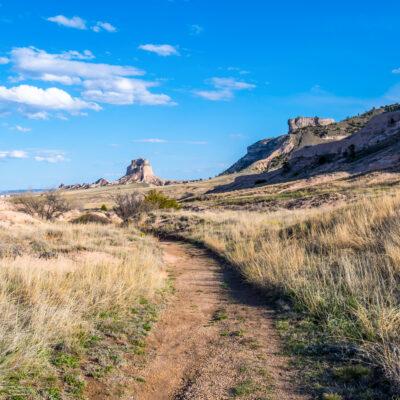 A trail through Scott's Bluff National Monument in Nebraska.