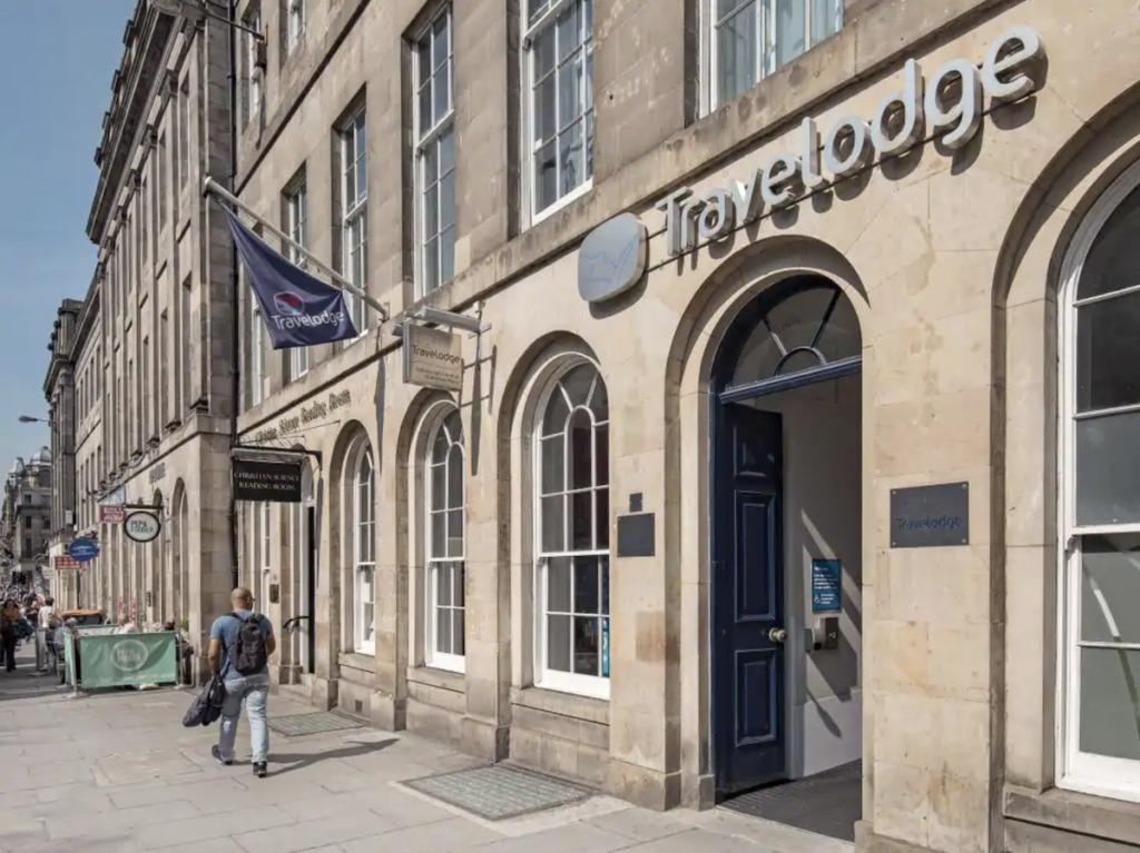 A Travelodge location in downtown Edinburgh.